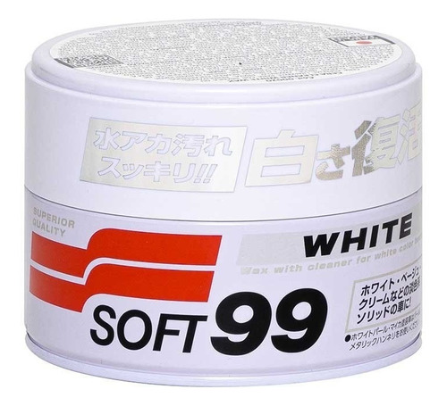 Imagen 1 de 3 de Cera Carnaúba White Cleaner Soft99 Made In Japan 350gr.