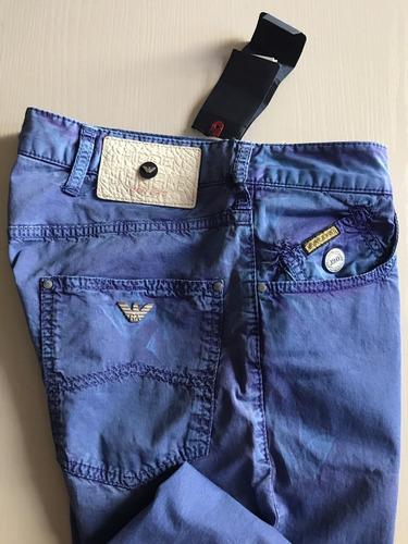 Nuevo 445 Pantalones Vaqueros Armani Jeans Para Hombre Azu Mercado Libre