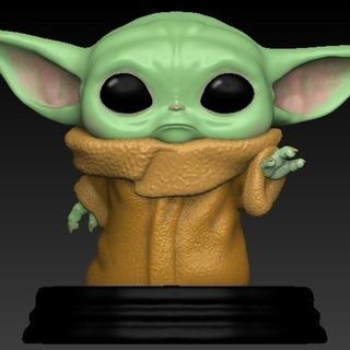 Baby Yoda Chibbi - Stl Para Impresión 3d