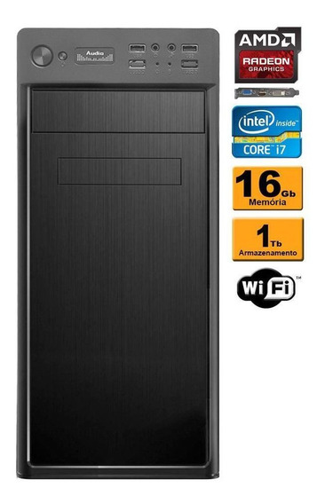 Computador Intel Core I7 16gb Ram 1tb Vídeo Radeon 2gb Wifi
