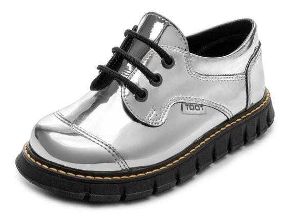 Zapato Abotinado Toot Cordon Botin Tractorado34 Al 37 Carito