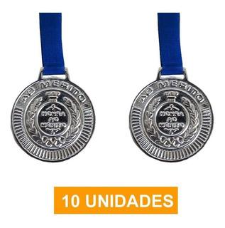 Kit 10 Medalhas Prata Futebol Volei Esportes Basquete - 50mm