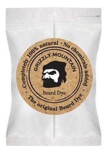 Imagen 1 de 1 de Tinte Orgánico Y Natural Para Barba Cafe Oscuro Grizzly Msi