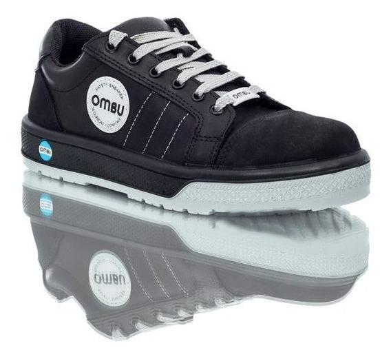 Calzado De Seguridad Zapatilla Ombu Modelo Sneaker / Negra