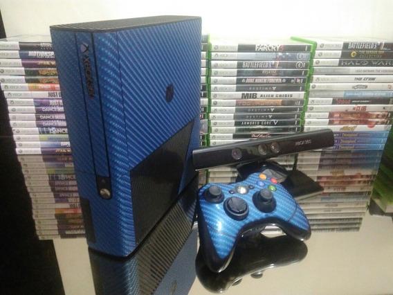 Xbox 360 Super Slim Travado + Kinect + Controle + 2 Jogos