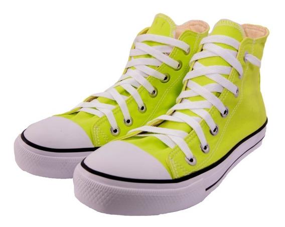 Tênis Converse Allstar Chuck Taylor Alto As Hi Verde Neon