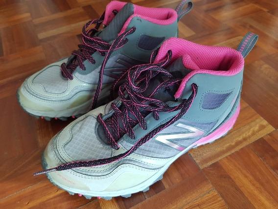 Zapatillas Botita New Balance Gris Con Rosa Resistentes