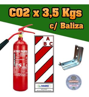 Matafuego Nuevo Bc Co2 X 3,5 Kg, Sello, Soporte, Baliza