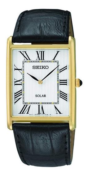 Reloj Seiko Dorado Cuadrado Solar Sup880