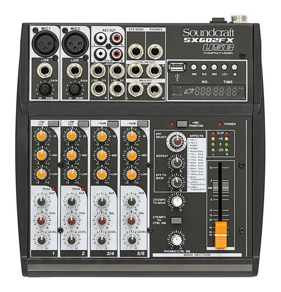 Mesa De Som Soundcraft Sx602fx Usb   Sx 602   Original   Nfe
