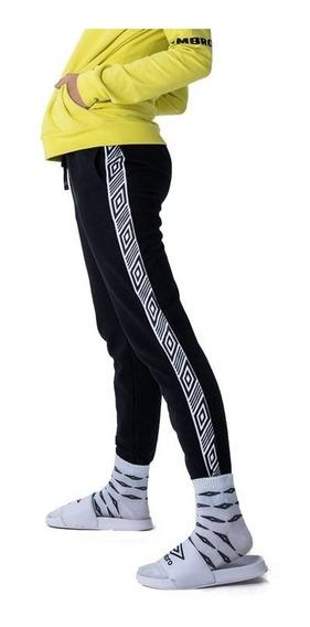 Pantalon Chupin Umbro Chester Dama Negro Sport Town