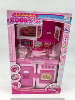 Cocina Para Muñecas Barbies De 30cm Luz Sonido