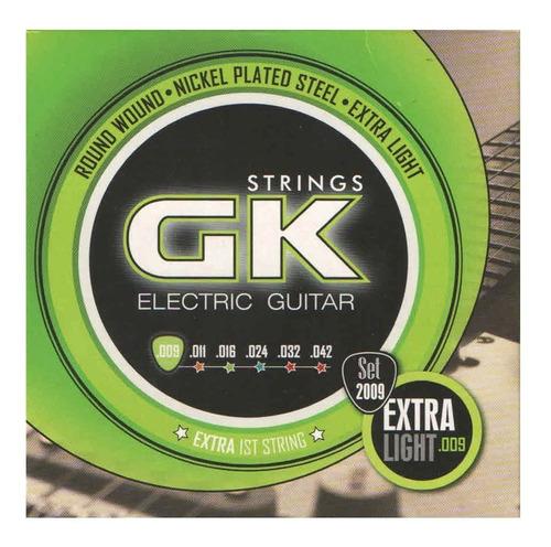 Imagen 1 de 5 de Encordado Para Guitarra Electrica Gk 2009  09 - 42