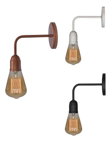 Lampara Aplique Pared Industrial Moderno Vintage Apto Led