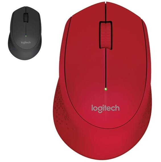 Mouse Logitech M280 Wireless Sem Fio Pc Notebook Macbook Wifi Vermelho Preto Cinza Branco Com Nota Fiscal