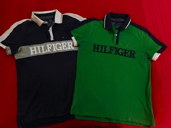 Lote 2 Playeras Tommy Hilfiger Originales Talla M/no Lacoste
