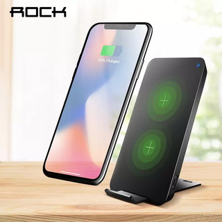 Carregador Wireless 10w Rock W8 iPhone 8 X Sansung S7 S8 S9