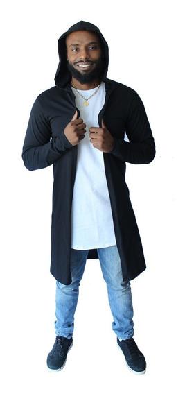 Sobretudo Cardiga Casaco Swag Plus Size Capuz Blusa M Longa