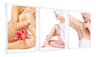 Quadro Decorativo Depilação Feminina Estética Corporal