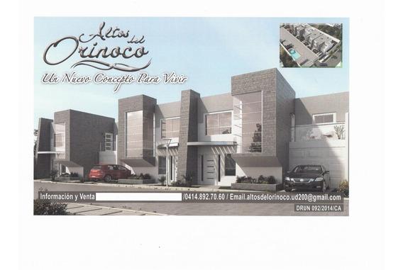 Inversiones Castro Vende Casa ,residencias Altos Del Orinoco
