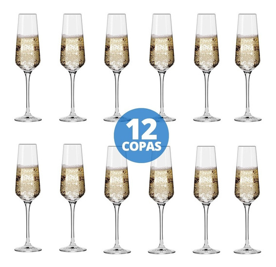 Copas Brunello Champagne Vidrio Nadir 190ml X 12 Unidades
