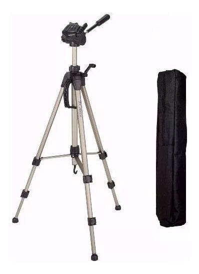 Tripe P/ Câmera E Filmadora + Bolsa Cabeca Hidraulica 1.60 M