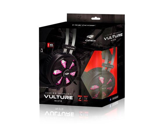 Fone C/ Microfone Gamer C3tech Usb 7.1 Vulture Ph-g710bk