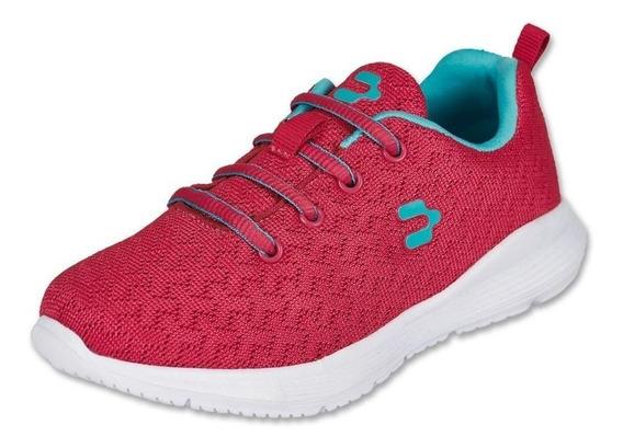 Calzado Kids Niña Tenis Charly Deportivo Textil Fiusha Comod