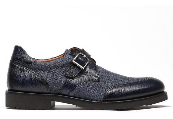 Zapato Vestir Piel Hombre Monk Acabado Graneado Prada Mx