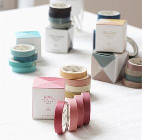 Washi Tape Kit 3 Pacotes Degradê Fita Adesiva Colorida