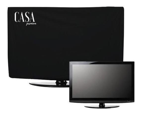 Capa Tv 58 60 Polegadas Premium Suspensa Corino Suporte