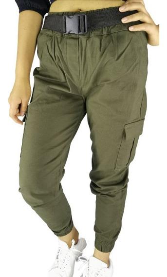 Pantalón Tipo Cargo Para Dama