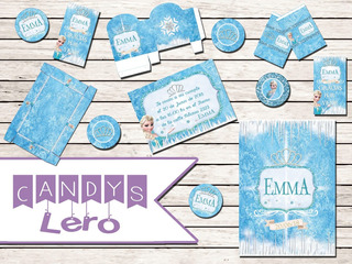 Kit Imprimible Frozen Elsa Corona Candy Bar Mesa Original