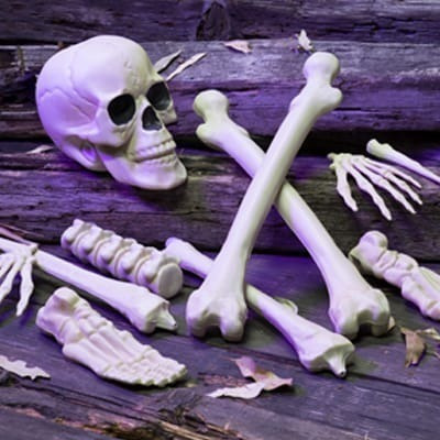 Bolsa De Huesos 12 Piezas Decoracion Para Halloween Calavera