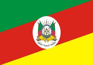 Bandeira Rio Grande Do Sul Bordada 2,5 Panos Alta Qualidade