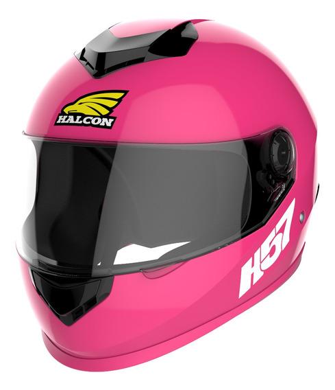 Casco Moto Halcon H57 Integral Rosa Mujer Tienda Oficial