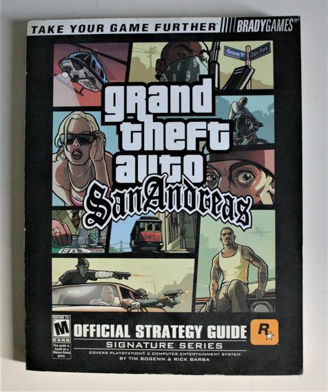 Guia Oficial Bradygame Strategy Guide Gta San Andreas Raro