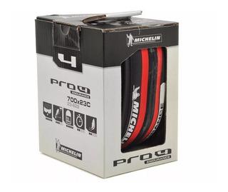 Pneu Bike Pro4 Michelin Endurance 700x23 Speed Preto/vermelh