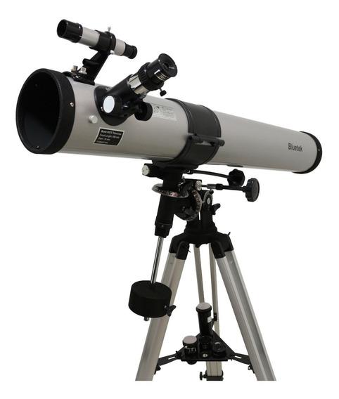 Telescópio Equatorial Newtoniano 900x76mm Bm90076 Bluetek