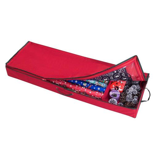 Imagen 1 de 6 de Caja Organizador Papel Envolver Regalos Navidad Tapa Rollo6