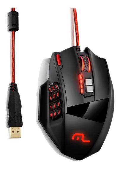 Mouse Gamer 18 Botões Macro Warrior Mo206 Multilaser 4000dpi
