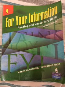 For Your Information Reading And Vocabulary Skills Vol 4