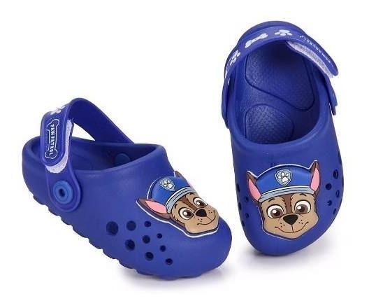 Babuch Croc Para Bebê Patrulha Canina Grendene Kids Original Tamanho 19 A 22 Sapato Calçado Envio Imediato