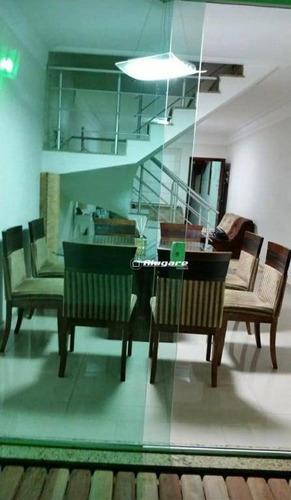 Sobrado Com 3 Dormitórios À Venda, 140 M² Por R$ 636.000,00 - Vila Augusta - Guarulhos/sp - So0512
