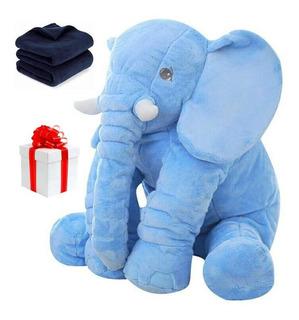 Peluche Almohada Elefante Bebes + Regalo Cobija Suave Felpa