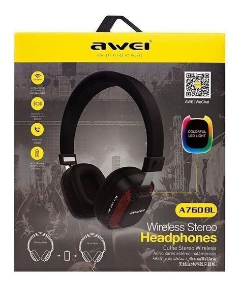 Fone Headphone Bluetooth Led Awei A760