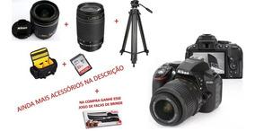 Camera Nikon D5300+tripe+sd32gb+ Acessórios-apenas1870clicks