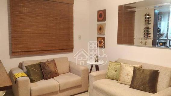 Apartamento Com 2 Dormitórios À Venda, 60 M² Por R$ 285.000 - Santa Rosa - Niterói/rj - Ap3126