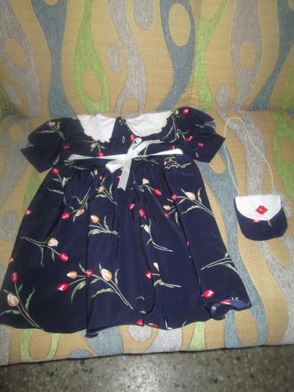 Vestido De Niña Elegante Talla 2 Diseño Exclusivo Nuevo