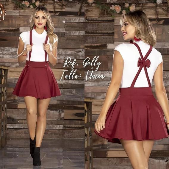 Falda Conjunto Vestido Overol Rotonda Mini Grado Coctel